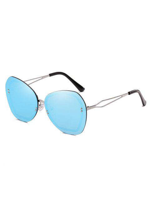 Oversized Rivets Rimless Elegant Sunglasses - LIGHT SKY BLUE
