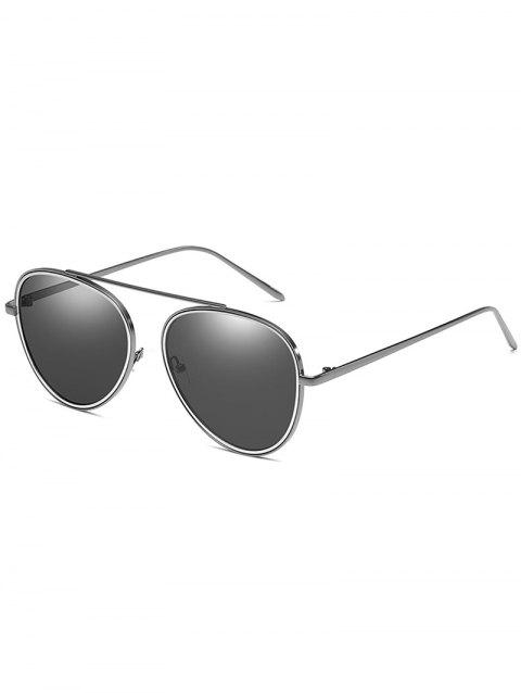 Anti UV Top Bar Pilot Sunglasses - NIGHT