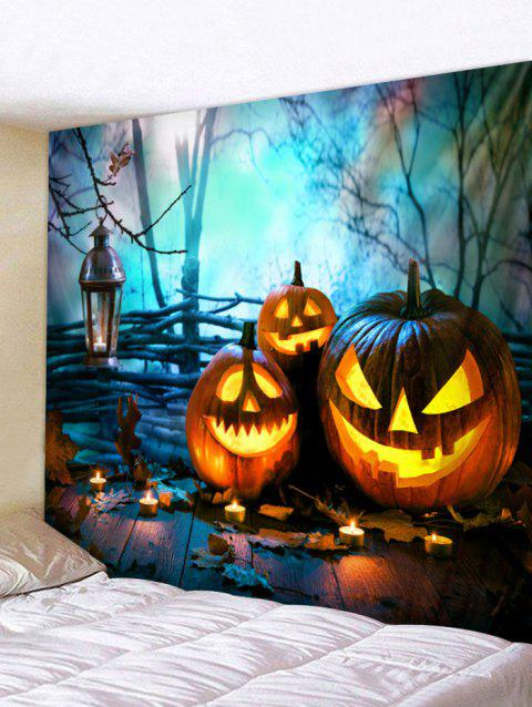 Halloween Pumpkin Brother Tapestry Wall Decoration - multicolor W79 INCH * L71 INCH