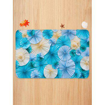 Paper Folded Flowers Printed Area Rug Runner - multicolor W24 INCH * L35.5 INCH