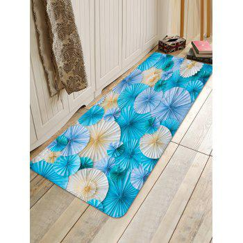 Paper Folded Flowers Printed Area Rug Runner - multicolor W16 INCH * L47 INCH