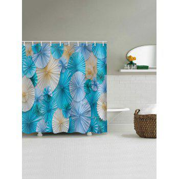 Paper Folded Flowers Print Shower Curtain - multicolor W59 INCH * L71 INCH