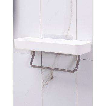 Wall-mounted Storage Holder with Towel Hanger - WHITE