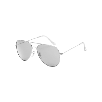 Metal Frame Crossbar Sun Shades Sunglasses - PLATINUM