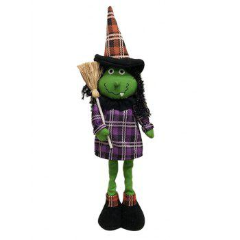Different Shapes Retractable Halloween Gift Doll - JUNGLE GREEN