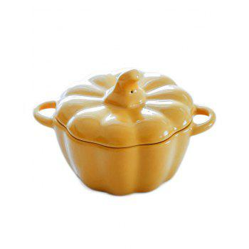 Bakeware Pumpkin Shape Ceramic Bowl - BRIGHT YELLOW 14.3*11*9CM