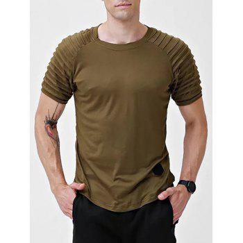 Solid Color Short Sleeve T shirt