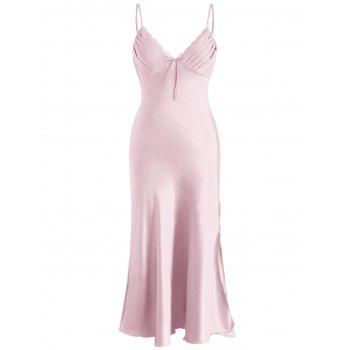Nightgown Lingerie Slip Dress - PIG PINK M