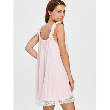 Lace Modal Slip Pajamas Dress - SAKURA PINK XL