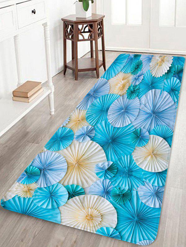 Paper Folded Flowers Printed Area Rug Runner - multicolor W24 INCH * L71 INCH