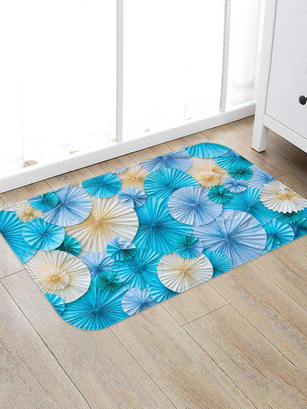 Paper Folded Flowers Printed Area Rug Runner - multicolor W16 INCH * L24 INCH