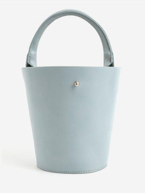 Retro Going Out Bucket Tote Bag - BABY BLUE