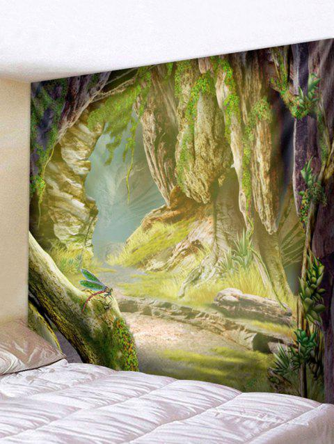 Stone Cave Print Tapestry Wall Art - multicolor W59 INCH * L51 INCH