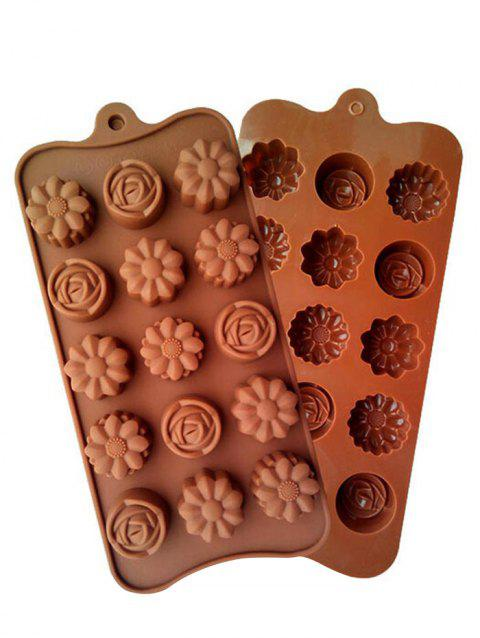 Flower Shape Silicon Chocolate Mold - COFFEE