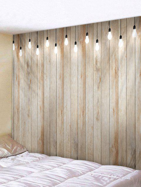 Wooden Lamp Printed Tapestry Wall Hanging Decoration - LIGHT KHAKI W91 INCH * L71 INCH
