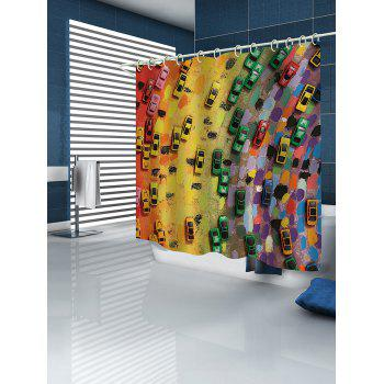 Colorful Cars Print Waterproof Shower Curtain - multicolor W71 INCH * L79 INCH