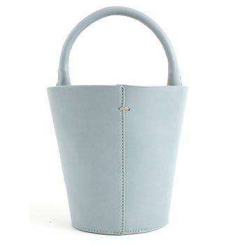 Vintage Going Out Bucket Tote Bag - BABY BLUE
