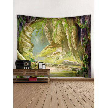 Stone Cave Print Tapestry Wall Art - multicolor W91 INCH * L71 INCH