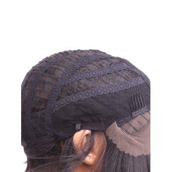Short Straight Bob Lace Front Heat Resistant Synthetic Wig - NATURAL BLACK 10INCH