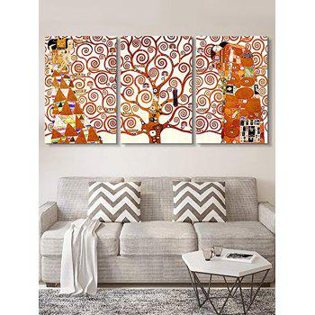 Abstract Tree Women Print Canvas Wall Art - multicolor 3PC:16*24INCH(NO FRAME)