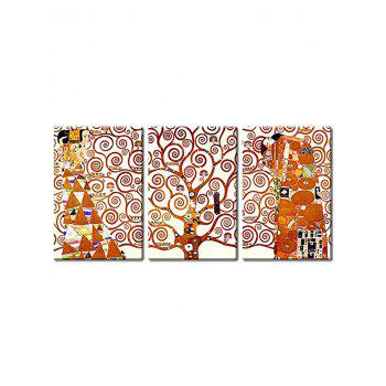 Abstract Tree Women Print Canvas Wall Art - multicolor 3PCS:24*35 INCH( NO FRAME )