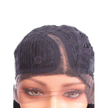 Side Parting Long Straight Party Synthetic Lace Front Wig - BLACK 26INCH