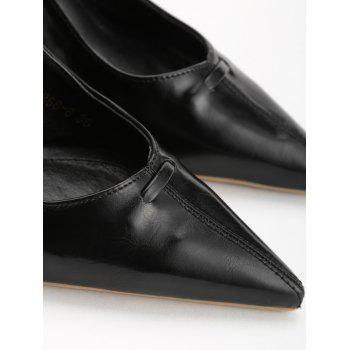 Chic Bowknot Pointed Toe Slingback Pumps - BLACK 35