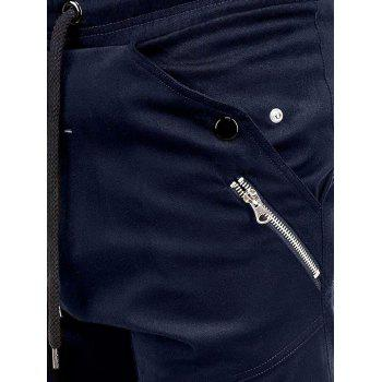 Multi Pocket Waistband Drawsting Casual Jogger Pants - CADETBLUE M