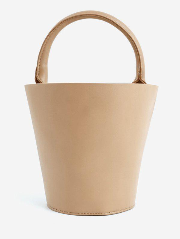 Vintage Going Out Bucket Tote Bag - BROWN