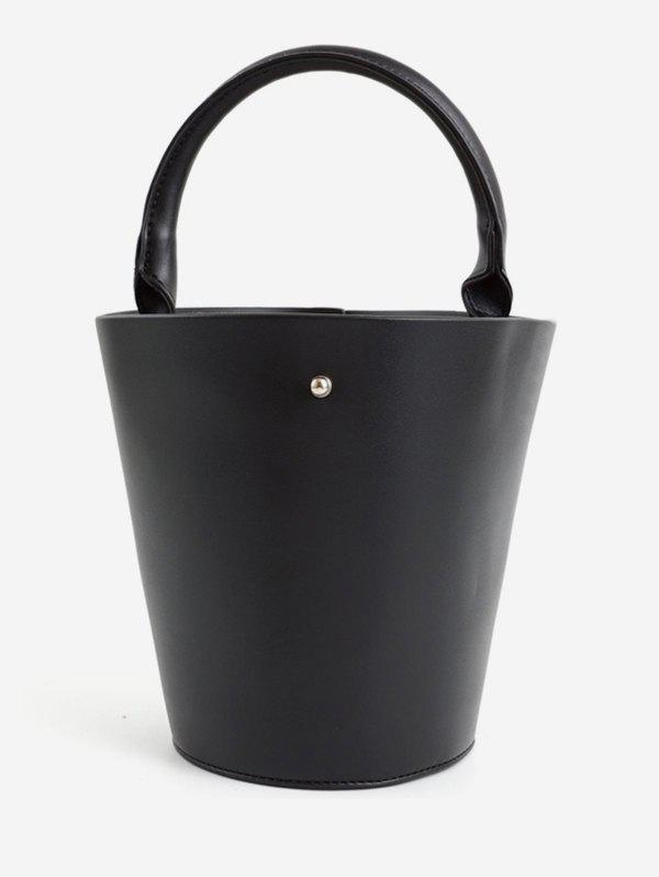 Vintage Going Out Bucket Tote Bag - BLACK