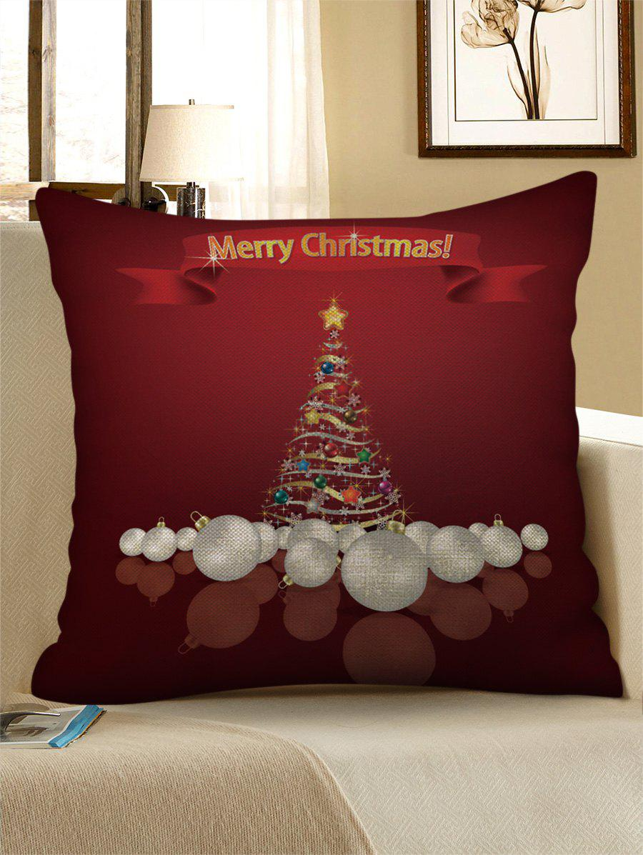 Christmas Party Print Decorative Linen Pillowcase - multicolor W17.5 INCH * L17.5 INCH