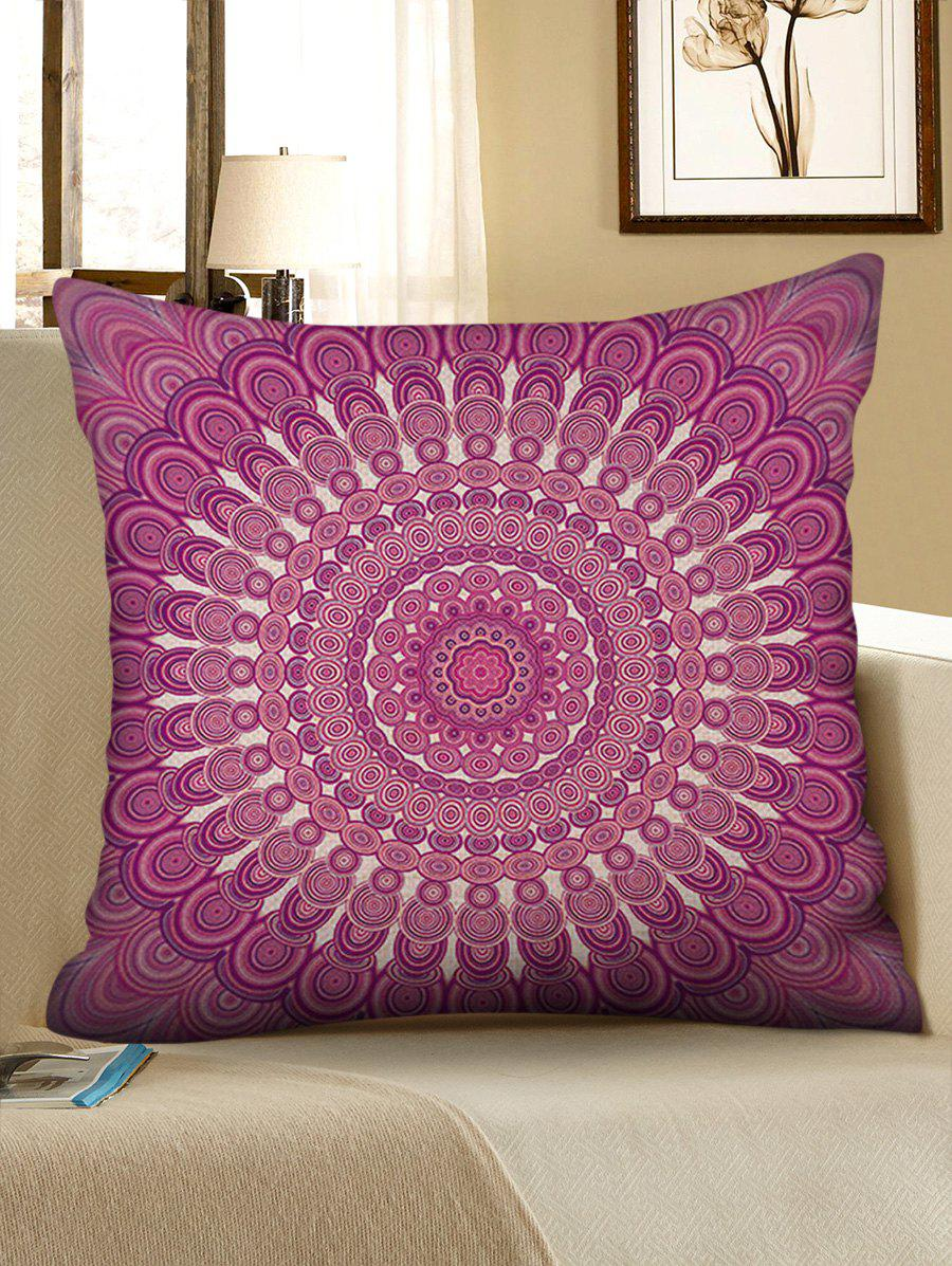 Bohemian Flower Print Linen Sofa Pillowcase - multicolor W17.5 INCH * L17.5 INCH