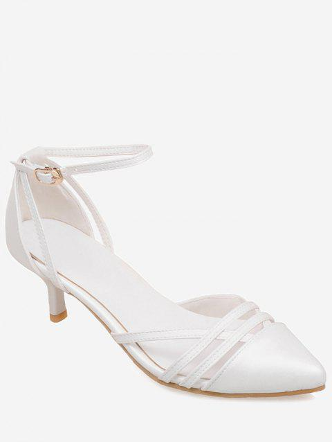 Plus Size Two Piece Pointed Toe Pumps - WHITE 42