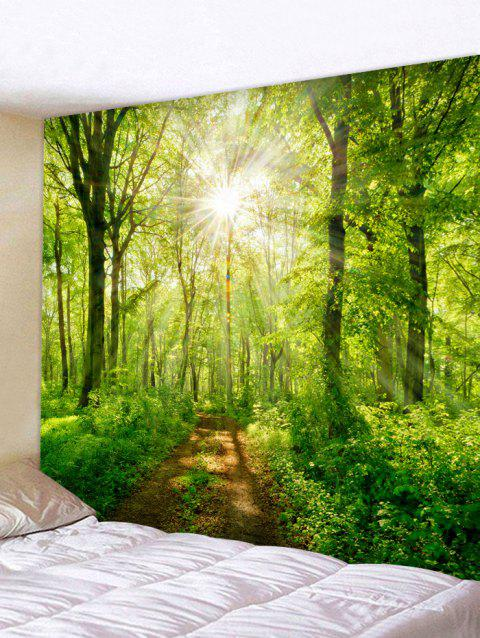 Sunshine Tree Print Tapestry Wall Decoration - VENOM GREEN W59 INCH * L59 INCH