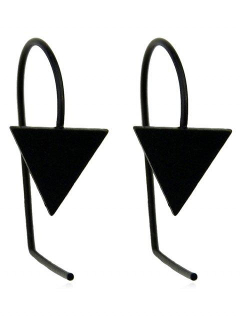 Boucles d'Oreilles Simple Triangle - Noir