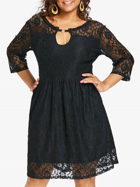 17 Off 2018 Plus Size Back Deep V Lace Dress In Black L