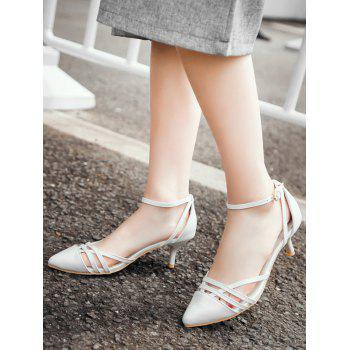 Plus Size Two Piece Pointed Toe Pumps - WHITE 43