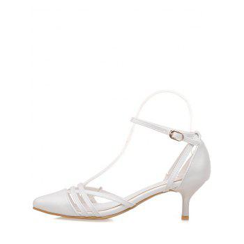 Plus Size Two Piece Pointed Toe Pumps - WHITE 38