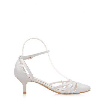 Plus Size Two Piece Pointed Toe Pumps - WHITE 37