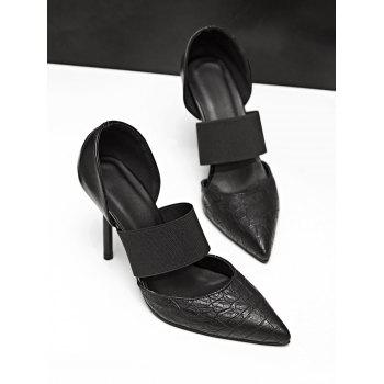 Plus Size High Heel Pointed Toe Pumps - BLACK 39