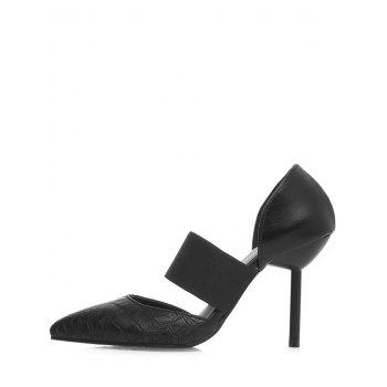 Plus Size High Heel Pointed Toe Pumps - BLACK 37