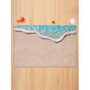 Sand Beach Pattern Water Absorption Area Mat - CAMEL BROWN W20 INCH * L31.5 INCH