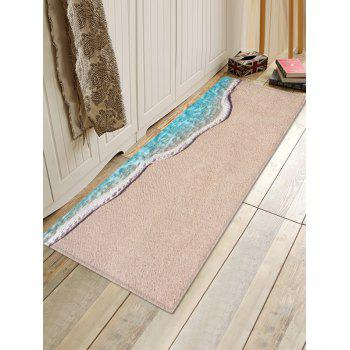 Sand Beach Pattern Water Absorption Area Mat - CAMEL BROWN W24 INCH * L71 INCH