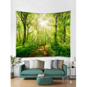 Sunshine Tree Print Tapestry Wall Decoration - VENOM GREEN W91 INCH * L71 INCH