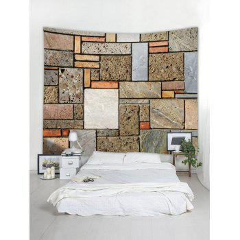 Brick Wall Print Tapestry Art Decor - multicolor W59 INCH * L59 INCH