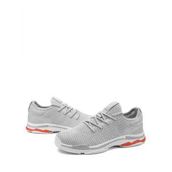 Casual Lace Up Round Toe Sneakers - GRAY 41