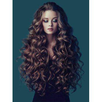 Long Fluffy Wavy Colormix Synthetic Wig