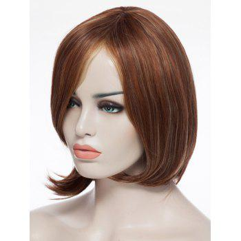 Stylish Shaggy Short Synthetic Centre Parting Capless Blonde Brown Mixed Women's Wig - COLORMIX