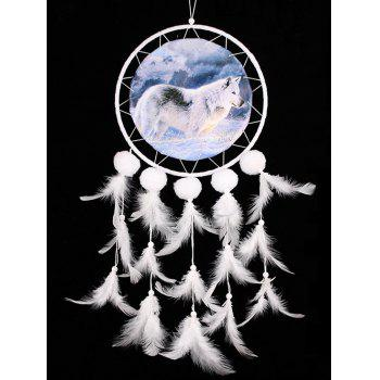 Wolf Pattern Dream Catcher With Feathers - multicolor 50*20CM