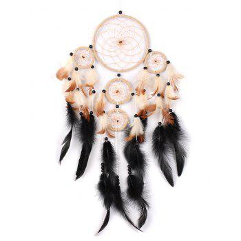 Beads Decoration Feathers Dream Catcher - multicolor 65*20CM